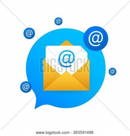 E-mail Marketing Flat Style, Colorful, Vector Icon For Info Graphics, Websites, Mobile And Print Med