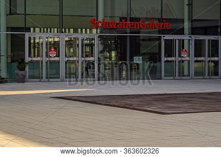 Stuttgart,germany - April 08,2020:vaihingen This Is One Of The Entrances Of The Modern Shopping Mall