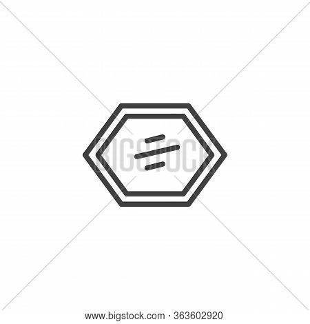 Decorative Frame Mirror Line Icon. Linear Style Sign For Mobile Concept And Web Design. Wall Mirror