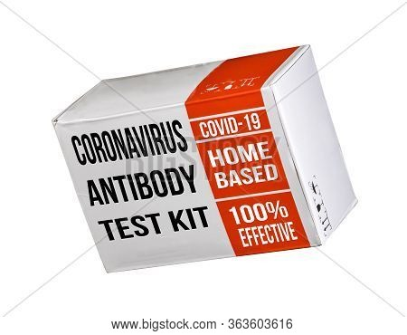 Mockup Of A Covid-19 Immunity Antibody Test Kit Suitable For Home Use To Determine Immune Status Iso