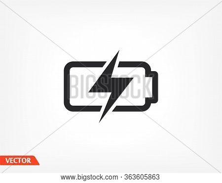 Battery Icon. Vector Eps 10. Lorem Ipsum Design Flat. Linear Work. Battery Icon. Battery Recharging