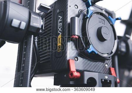 Kyiv, Ukraine - 04.17.2020: Studio Shoot Of Professional Video Camera Arri Alexa Mini Lf With Out Le