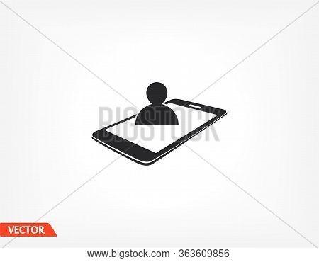 Video Call Icon. Vector Eps 10 . Lorem Ipsum Flat Design