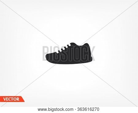 Sneakers Is Sports. Vector Graphics Of Shoes. Stylish Work Shoes. Sneaker In Flat Style 10 Eps. The