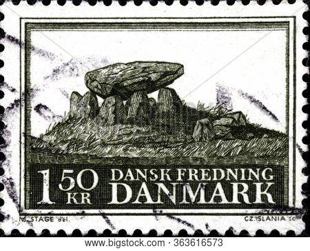 02 11 2020 Divnoe Stavropol Krai Russia The Postage Stamp Denmark 1966 Preservation Of National Trea