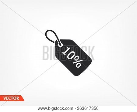 Outline Icon Sale 10 Isolated On Attachment, Sale 10 Logo, User Interface. Editable Bar Sale 10. Vec