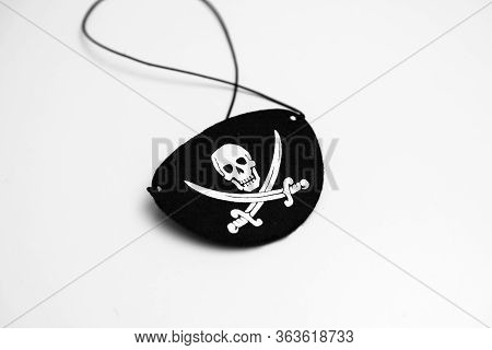 Pirate Logo Eye Patch Disguise Kid  Isolated On White Background