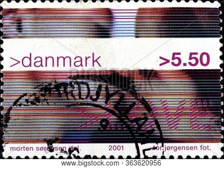 02.11.2020 Divnoe Stavropol Territory Russia The Danish Postage Stamp 2001 Youth Culture Love - Coup