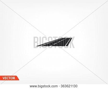 Car Road Vector Icon . Lorem Ipsum Flat Design