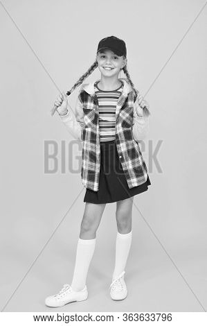 Comfortable Outfit. Modern Outfit. Rebellious Teen. Street Style. Cool Schoolgirl. Have Fun Charisma