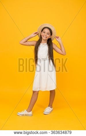 Happy Childhood Of Positive Girl. Beauty. Kid Summer Fashion. Ready For Beach Party. Holiday Mood. S