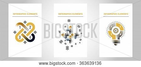 Brochure Template Layout, Cover Design Annual Report, Magazine, Flyer In A4 With Green Polygonal Tri