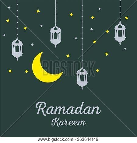 Modern Ramadan Kareem Poster, Invitation. Modern Ramadan Kareem Or Eid Mubarak Poster, Invitation.