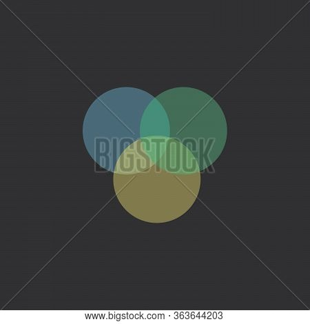 Abstract Sign Of Three Merged Circles Logo. Infinity Sign. Spectrum Icon.