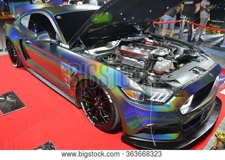 Rizal, Ph - Feb 11 - Ford Mustang At East Auto Moto Show On February 11, 2019 In Taytay, Rizal, Phil