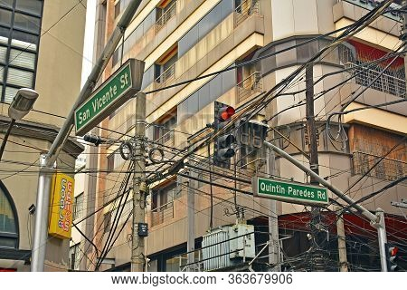 Manila, Ph - Oct 7 - San Vicente Street And Quintin Paredes Road Signage On October 7, 2017 In Manil