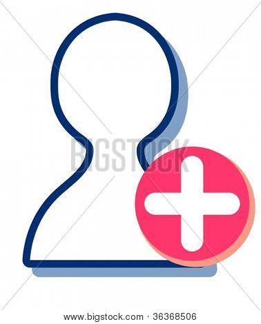 illustration of hospital symbol on a white background