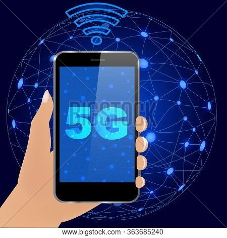 5g Technology Worldwide. 5g Global Network Concept.worldwide Information Technology.wireless  Networ