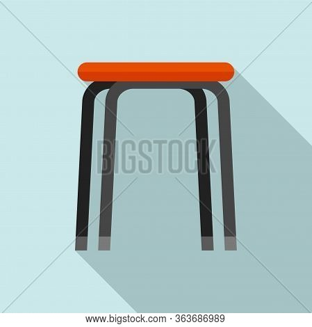 Stool Icon. Flat Illustration Of Stool Vector Icon For Web Design