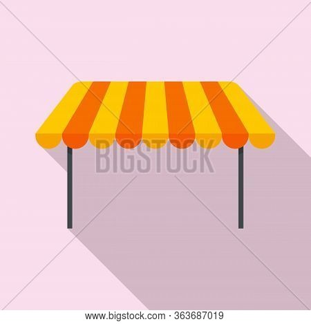 Outdoor Parasol Icon. Flat Illustration Of Outdoor Parasol Vector Icon For Web Design