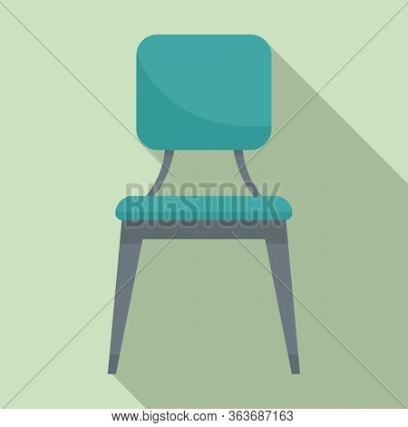Leather Outdoor Chair Icon. Flat Illustration Of Leather Outdoor Chair Vector Icon For Web Design