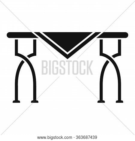 Metal Garden Table Icon. Simple Illustration Of Metal Garden Table Vector Icon For Web Design Isolat