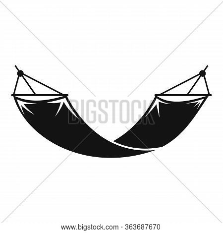 Garden Hammock Icon. Simple Illustration Of Garden Hammock Vector Icon For Web Design Isolated On Wh