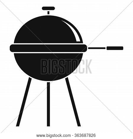 Home Bbq Equipment Icon. Simple Illustration Of Home Bbq Equipment Vector Icon For Web Design Isolat