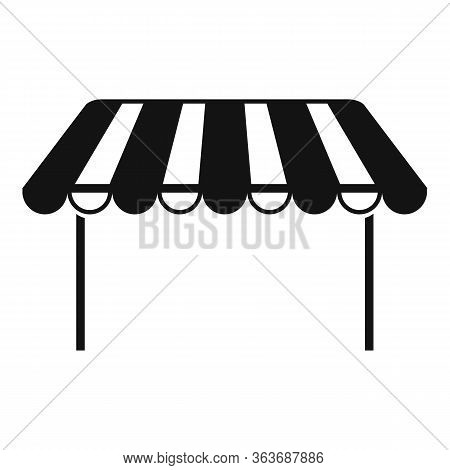 Outdoor Parasol Icon. Simple Illustration Of Outdoor Parasol Vector Icon For Web Design Isolated On