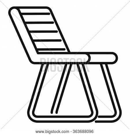 Fishing Chair Icon. Outline Fishing Chair Vector Icon For Web Design Isolated On White Background