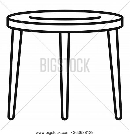 Garden Furniture Icon. Outline Garden Furniture Vector Icon For Web Design Isolated On White Backgro