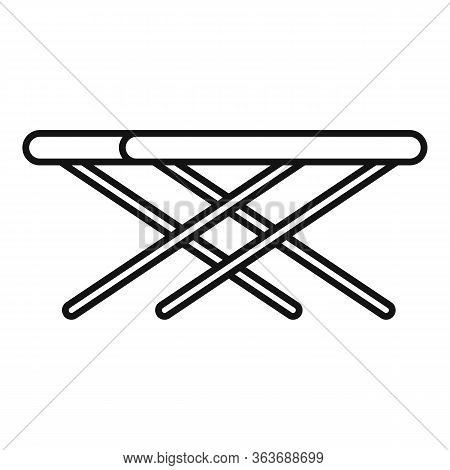 Portable Outdoor Table Icon. Outline Portable Outdoor Table Vector Icon For Web Design Isolated On W
