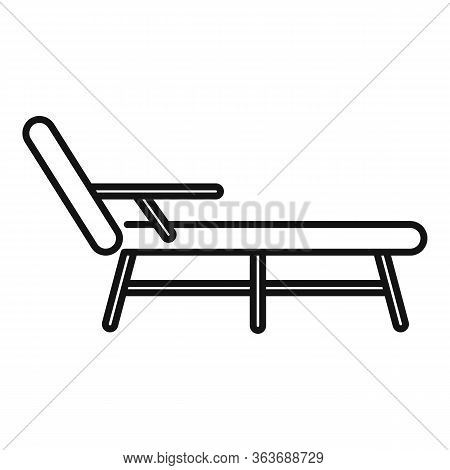Deck Chair Icon. Outline Deck Chair Vector Icon For Web Design Isolated On White Background