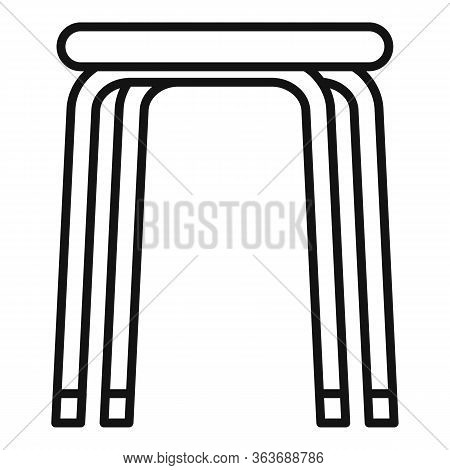 Stool Icon. Outline Stool Vector Icon For Web Design Isolated On White Background
