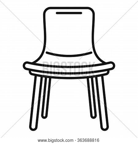 Summer Outdoor Chair Icon. Outline Summer Outdoor Chair Vector Icon For Web Design Isolated On White