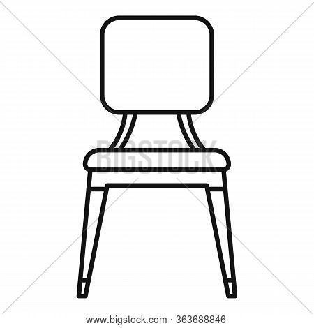 Leather Outdoor Chair Icon. Outline Leather Outdoor Chair Vector Icon For Web Design Isolated On Whi