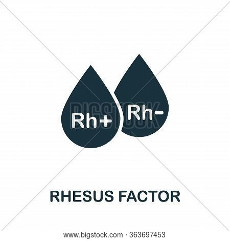Rhesus Factor Icon. Simple Illustration From Medical Equipment Collection. Creative Rhesus Factor Ic