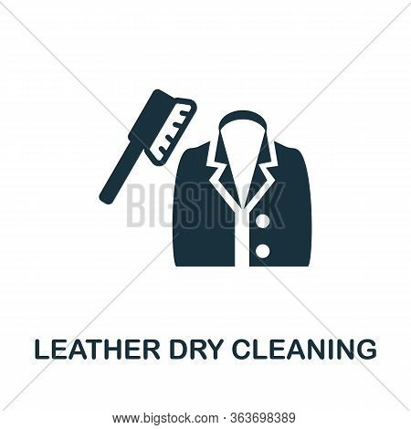 Leather Dry Cleaning Icon. Simple Illustration From Laundry Collection. Creative Leather Dry Cleanin