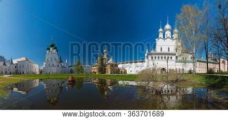 Rostov Kremlin. Panoramic View. Golden Ring Of Russia.