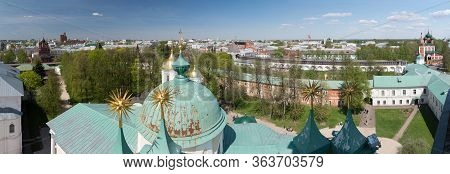 Panoramic View Of Yaroslavl City Center. Golden Ring Of Russia.