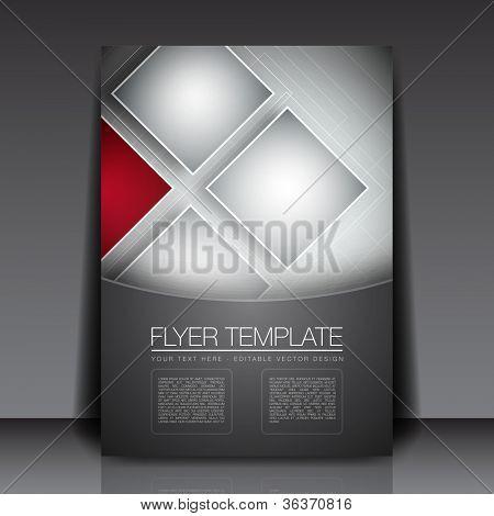 Business-Quadrate Hintergrund Flyer Vorlage - Vektor-Design-Konzept