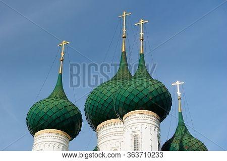 Fyodorovskaya Church In Yaroslavl. Golden Ring Of Russia