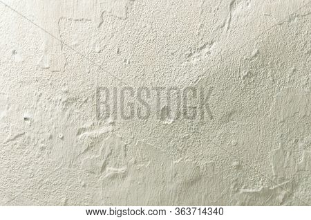 White Rustic Texture. Retro Whitewashed Old Concrete Wall Surface. Vintage Texture Or Grunge. Grungy