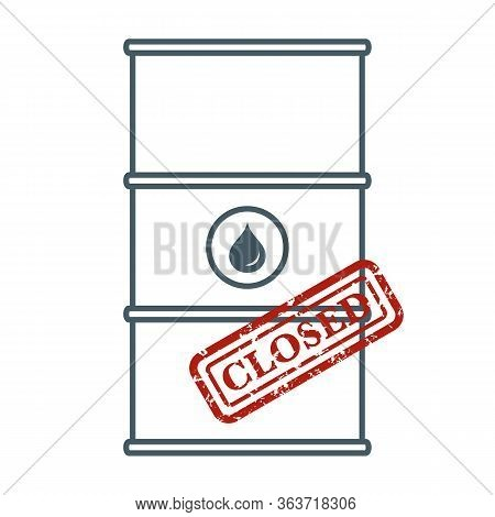 Vector Illustration Oil Industry Economic Crisis. Crowded Storage. Oil Storage Problem. Falling Glob