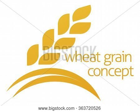 A Conceptual Illustration Of A Wheat Grain Or Corn Icon With Space For Text