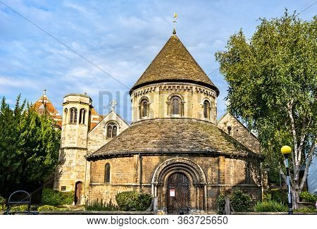 Church Of The Holy Sepulchre, Known As The Round Church. Cambridge, England
