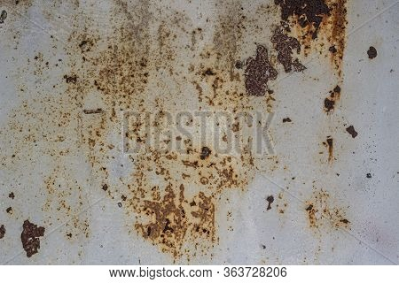 Rust Texture. Old Metal. Abstract Dilapidated Wall. The Combination Of Colors In An Oxide-corroded M