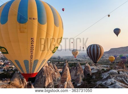 Moment Of Balloons Landing