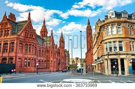 Methodist Central Hall And Victoria Law Courts, Historic Buildings In Birmingham, England