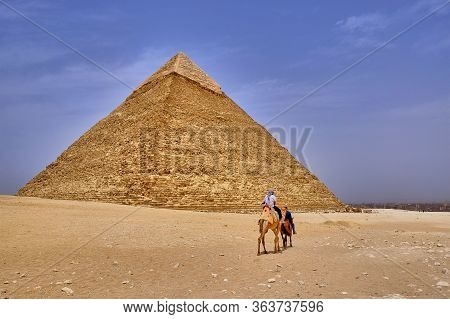 Cairo / Egypt - May 25, 2019: The Pyramid Of Khafre (pyramid Of Chephren), The Second-tallest Of The